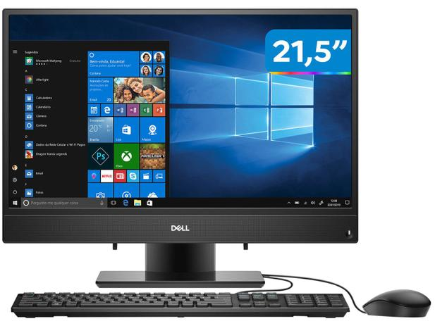"Computador All in One Dell 3280-AS10P Intel Core - i3 4GB 128Gb SSD 21,5"" Full HD Windows 10"