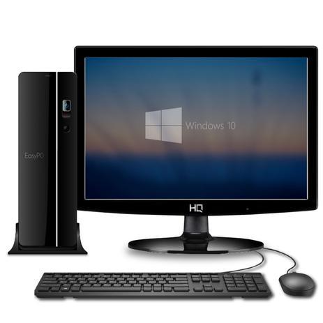 Imagem de Computador Compacto com Monitor LED Intel Core i7 SSD 60GB HD 500GB 4GB HDMI Full HD Áudio HD EasyPC Smart Windows 10