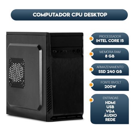 Imagem de Computador Cpu Intel Core I5 memória 8gb SSD 240gb