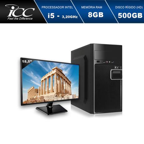 Imagem de Computador Desktop ICC IV2581SM18 Intel Core I5 3.20 ghz 8gb HD 500GB HDMI FULL HD Monitor LED 18,5