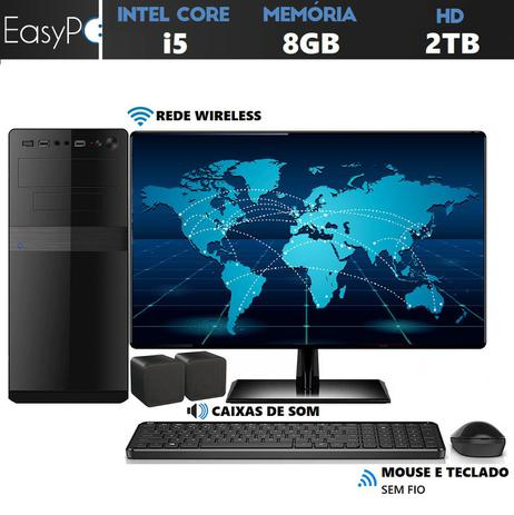 Imagem de Computador Easy PC Connect Intel Core i5 (Gráficos Intel HD) 8GB HD 2TB Wifi Monitor 19.5 LED HDMI