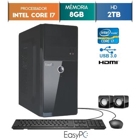 Computador EasyPC Intel Core I7 8GB 2TB - Computador - Magazine Luiza 4371287df9