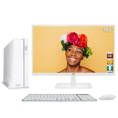 Imagem de Computador EasyPC Slim White Intel Core i7 8GB HD 3TB Monitor LED 19.5