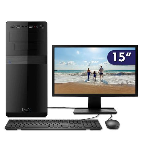 Imagem de Computador EasyPC Standard Intel Core i5 4GB DDR3 HD 500GB HDMI FullHD audio 5.1 Monitor 15.6