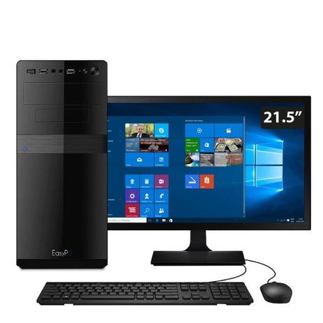 Imagem de Computador EasyPC Standard+ Intel Core i5 8GB HD 500GB Monitor 21.5 Windows 10 + Pacote Office