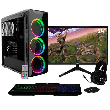Imagem de Computador Gamer BestON Intel Core i7 (Geforce GTX 1050Ti 4GB) com Monitor 24
