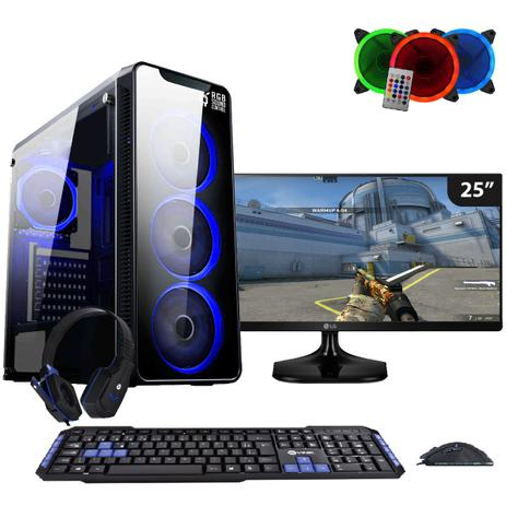 Imagem de Computador Gamer FirstBlood AMD A10 9700 3.8Ghz Monitor 25 Ultrawide LG (Radeon R7) 8GB DDR4 1TB