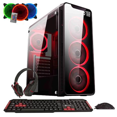 Imagem de Computador Gamer FirstBlood AMD A8 9600 4-Core 3.4Ghz (Radeon R7) 8GB DDR4 1TB HDMI Áudio HD 7.1 EasyPC