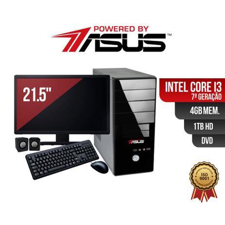 Imagem de Computador Powered by ASUS I3 7G 4Gb 1Tb DVD Mon21 Kit