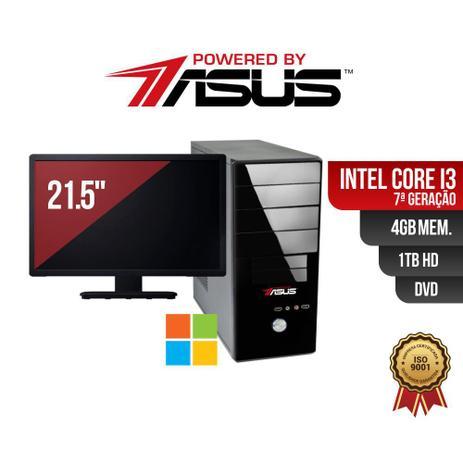 Imagem de Computador Powered by ASUS I3 7G 4Gb 1Tb DVD Mon21 Win