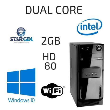 Imagem de Computador Proc. Intel Dual Core 2gb HD 80 Windows 10 Pró