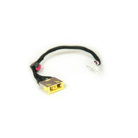 Imagem de Conector DC Jack para Notebook Lenovo Ideapad G400S-80AC000GBR Com Cabo