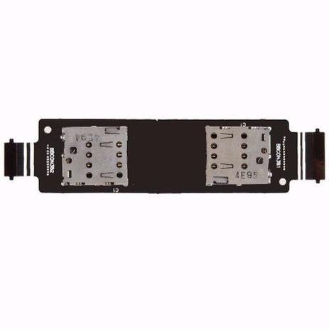 Imagem de Conector Dual Chip Flex Asus Zenfone 5 A501 Chip Sim Card T00j