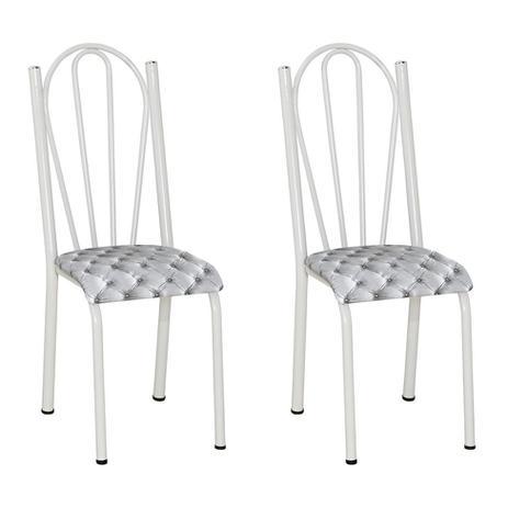 Imagem de Conjunto 2 Cadeiras Mnemósine  Branco e Estampa Capitonê