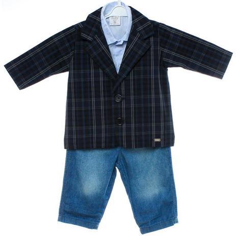 d7f7ec730b Conjunto 3 Peças Blazer com Jeans - Tilly - Conjuntinhos para Bebê ...