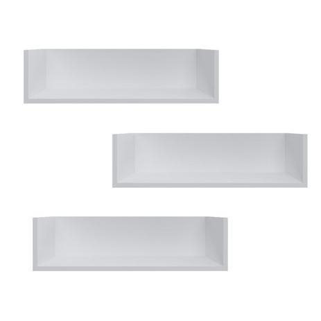 Imagem de Conjunto 3 Prateleiras para Escritório BR128 Criando Mobilia Branco
