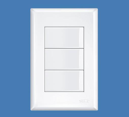 Imagem de Conjunto 4x2 Interruptor 3 Teclas Paralela 16a Evidence - Fame