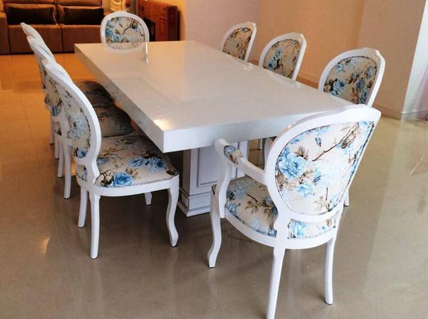 Imagem de Conjunto 6 Cadeiras Medalhão + 2 Poltronas Medalhão - Tommy Design