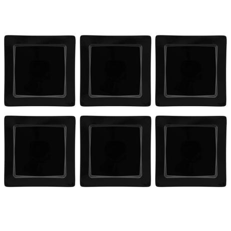 Imagem de Conjunto 6 Pratos Rasos 26x26cm Nara Black Oxford