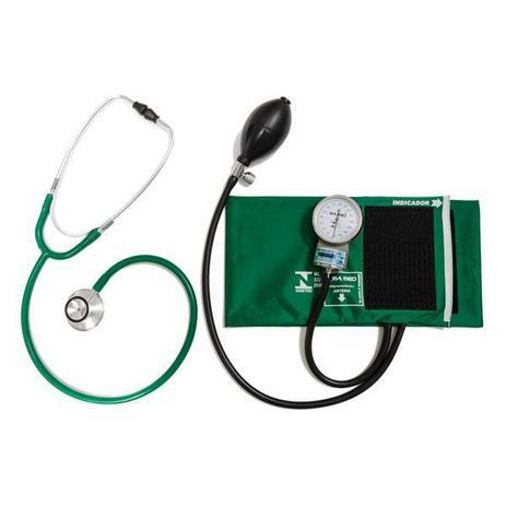 Imagem de Conjunto Aparelho de Pressão Arterial Esfigmomanômetro e Estetoscópio Rappaport P.A. MED