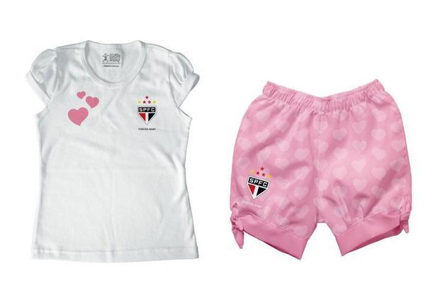 2e39ea652 Conjunto Bebê São Paulo Rosa - Torcida Baby - Almofada para Banho ...