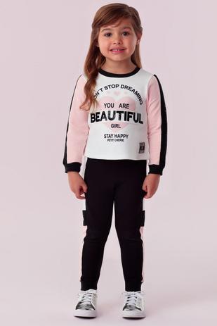 Imagem de Conjunto blusa e calça petit cherie infantil classic girls 310
