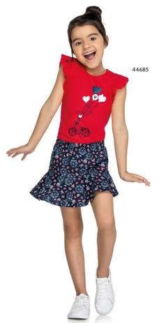 Imagem de Conjunto blusa + saia estampada outono Marisol
