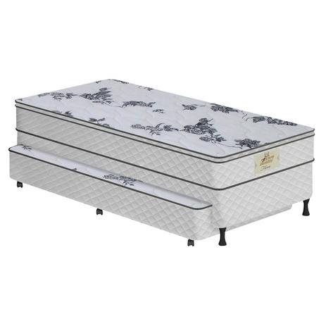 af8e0ddc2a Conjunto Box SOLTEIRO Flora Bicama White - Molas Bonnel - 088x188 - Copel  colchões