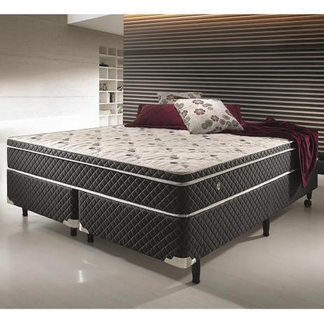 Conjunto cama box casal king size soft confort anti caro for Cama queen size or king size