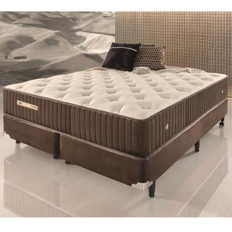 Conjunto cama box king size de molas ecoflex sensazione 1 for Cama queen size or king size