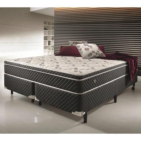1d01e79f3 Conjunto cama box king size soft comfort preto - antiácaro ...
