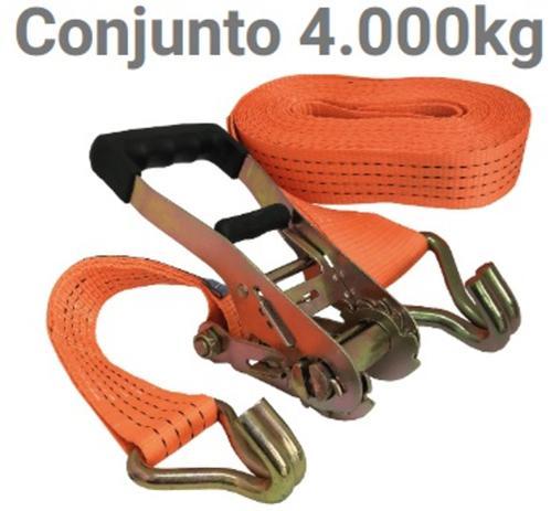 Imagem de Conjunto Catraca e Cinta Para Amarração Carga 4000 KG 9 Metros Com Gancho J  Jogo - 9282
