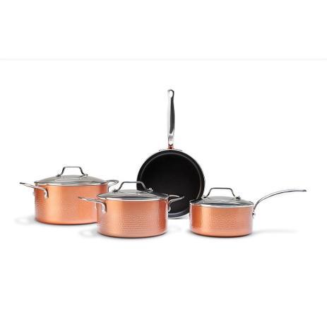 Imagem de Conjunto Com Fundo De Indução Copper Com 4 Peças - Cobre