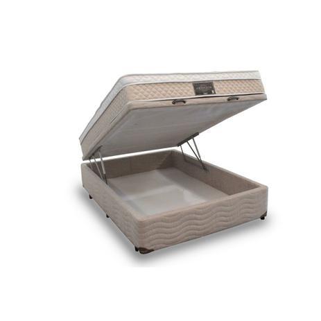 Imagem de Conjunto Dabe Absoluto com Box Bau Casal Antigo - molas ensacadas - 128x188