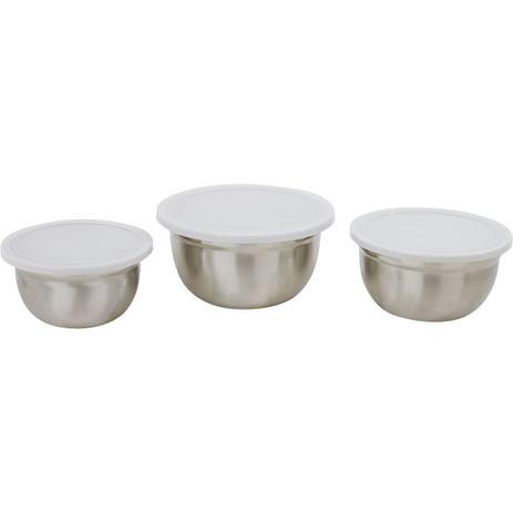 Imagem de Conjunto de 3 Potes Inox Casa do Chef