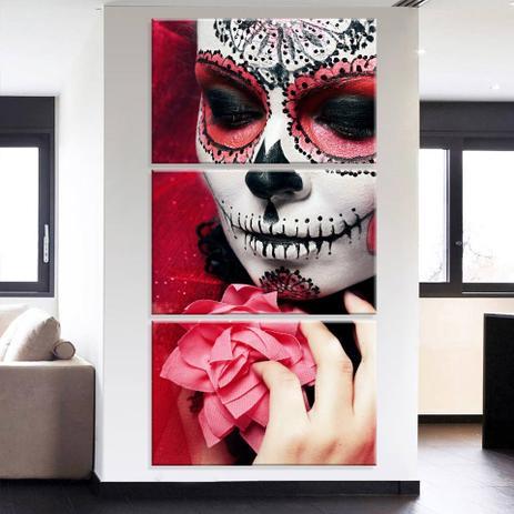 6ceebea7f Conjunto de 3 Telas Decorativas em Canvas Catrina - Love decor ...