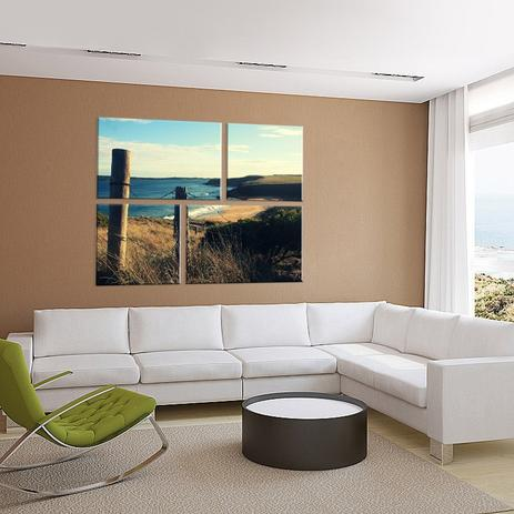 cb442b529 Conjunto de 4 Telas Decorativas em Canvas Praia Deserta - Love decor ...