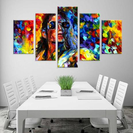 5171255d0 Conjunto de 5 Telas Decorativas em Canvas Multi Color - Love decor ...