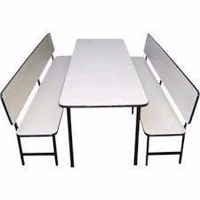 Imagem de Conjunto de mesa + 2 Bancos com encosto para refeitório infantil (formica)