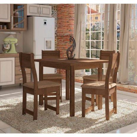 ffee8da72 Conjunto de Mesa 4 Cadeiras Dallas Plus Indekes 9824 - Móveis de ...
