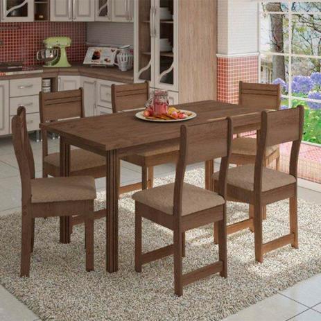 Imagem de Conjunto de Mesa 6 Cadeiras Dallas Plus Indekes 9834