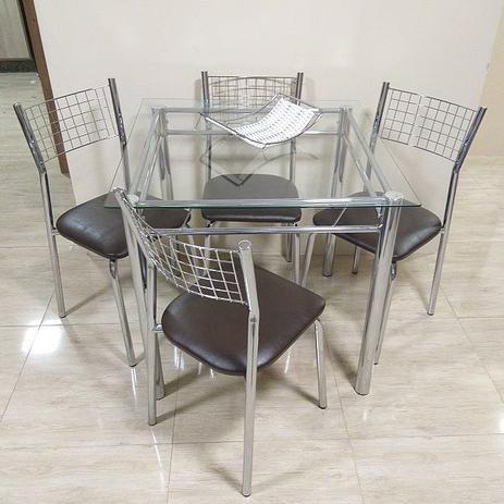 Imagem de Conjunto de Mesa com 4 Cadeiras Cromada