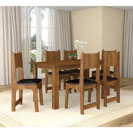 Imagem de Conjunto de Mesa com 6 Cadeiras Perola Sonetto