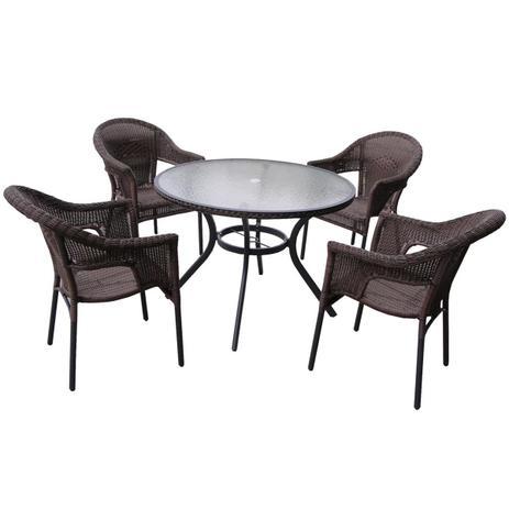 Imagem de Conjunto De Mesa E Cadeiras Para Jardim Atacama 9140 Mor
