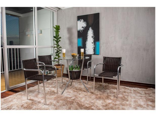 Menor preço em Conjunto de Mesa para Área Externa de Fibra - com 4 Cadeiras Alegro Móveis CJMB401315