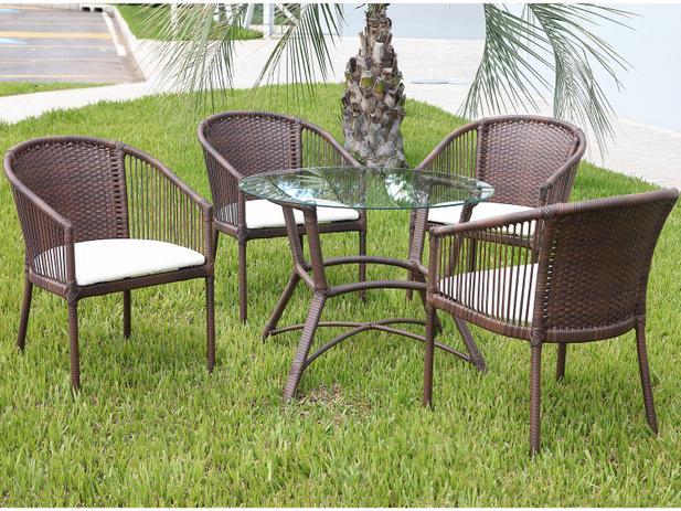 Imagem de Conjunto de Mesa para Jardim com 4 Cadeiras