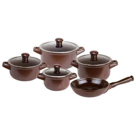 Imagem de Conjunto De Panelas 5 Peças Cerâmica Chocolate Ceraflame