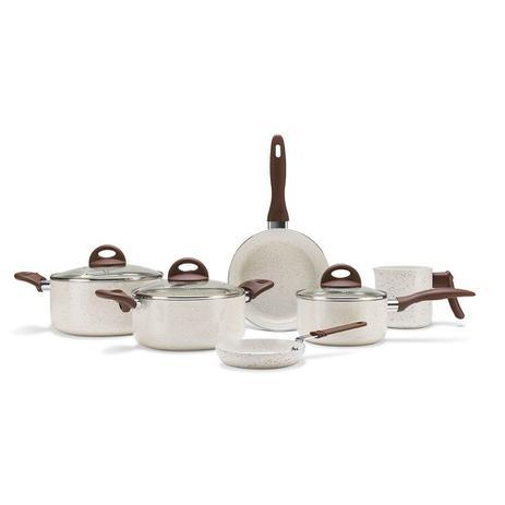 Imagem de Conjunto de Panelas 6 Peças Ceramic Life Smart Plus Vanilla Brinox