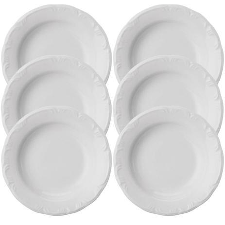 Imagem de Conjunto de Pratos Fundos  Schimidt Porcelana Pomerode 6 Peças