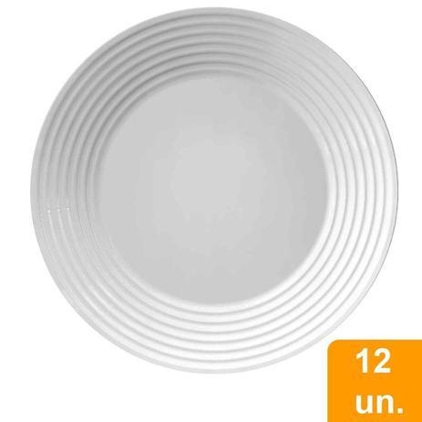 Imagem de Conjunto de Pratos Raso de Vidro 12 peças Opaline Saturno - Duralex